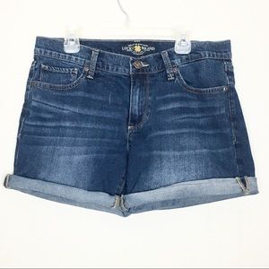 Lucky Brand The Roll Up Mid Rise Jean Shorts 4/27